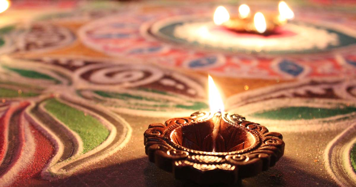 Alpana-Rangoli a Diwali